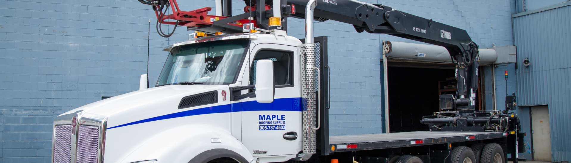 Maple Roofing truck